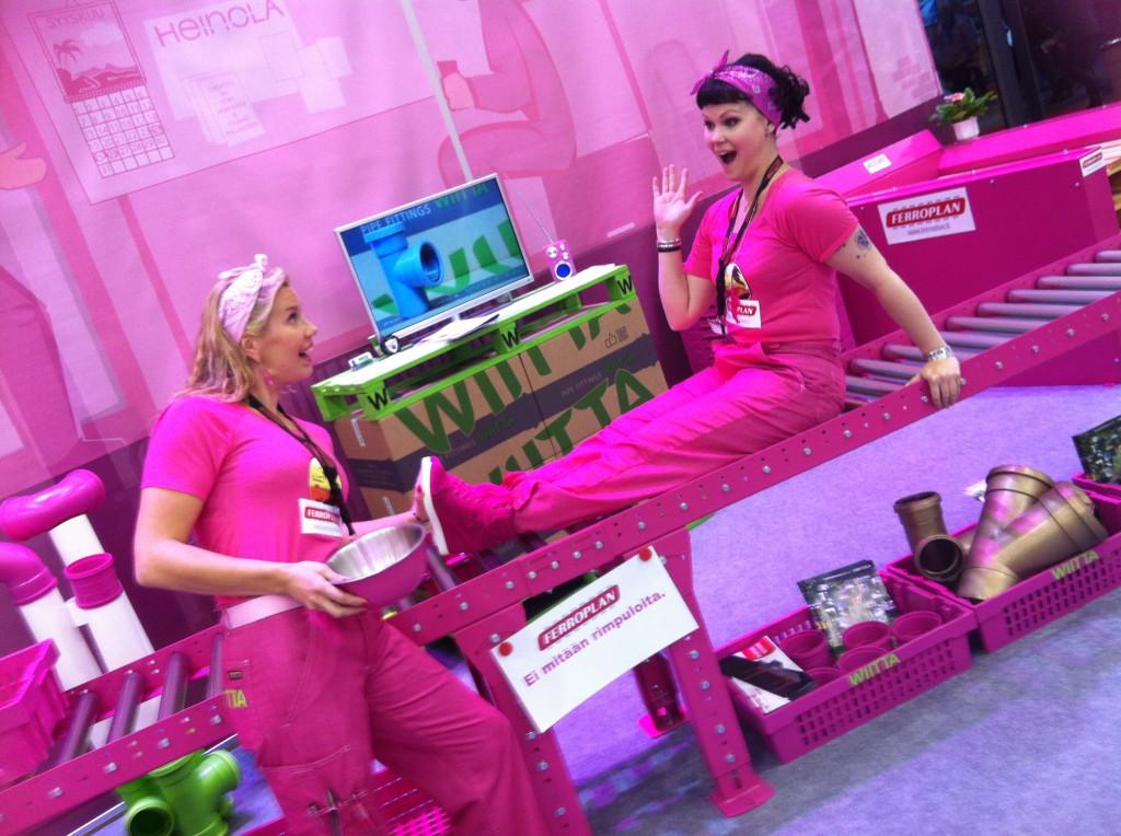 Pinkillä tehtaalla rullaa aina!